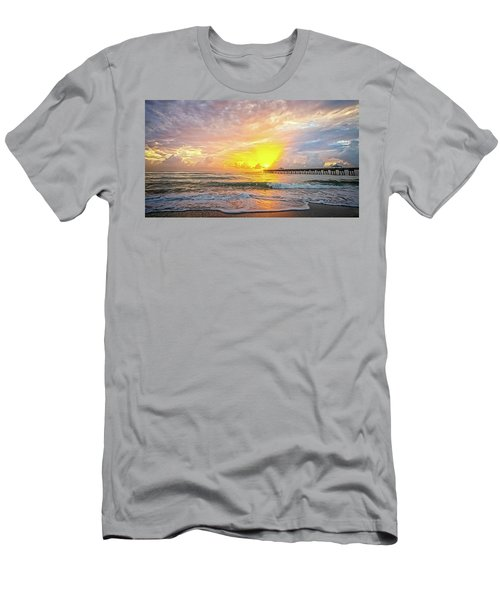Juno Beach Pier Sunrise 2 Men's T-Shirt (Athletic Fit)