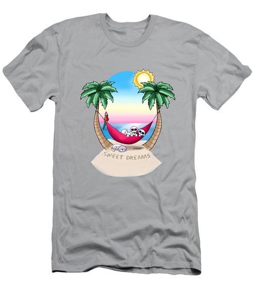 Kiniart Tropical Bichon Frise Men's T-Shirt (Athletic Fit)