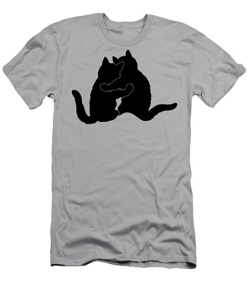 Kitty Hugs Men's T-Shirt (Athletic Fit)