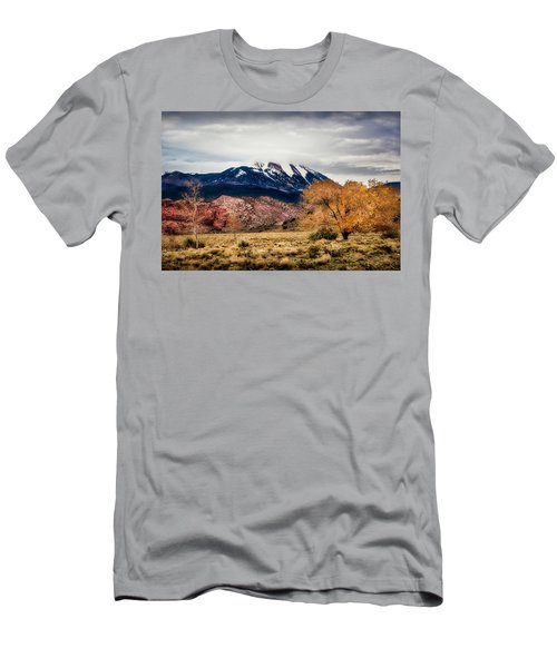 Men's T-Shirt (Athletic Fit) featuring the photograph La Sal Mountain Range by David Morefield