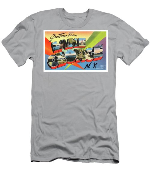 Lake George Greetings Men's T-Shirt (Athletic Fit)