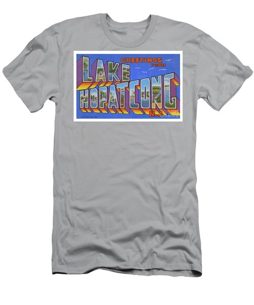 Men's T-Shirt (Athletic Fit) featuring the photograph Lake Hopatcong Greetings by Mark Miller