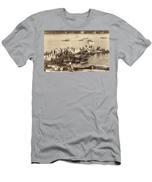 Lake Hopatcong Yacht Club Dock - 1910 Men's T-Shirt (Athletic Fit)