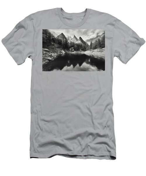 Lake Verde In The Alps IIi Men's T-Shirt (Athletic Fit)
