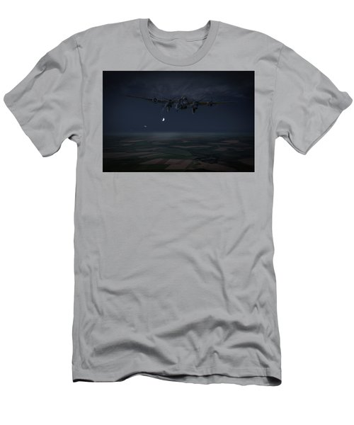 Men's T-Shirt (Athletic Fit) featuring the photograph Lancaster Baleout by Gary Eason