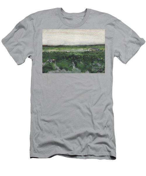 Landscape With Wheelbarrow, 1883  Men's T-Shirt (Athletic Fit)