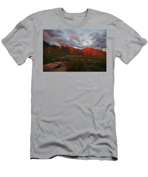 Last Light On Catalina Mountains Men's T-Shirt (Athletic Fit)