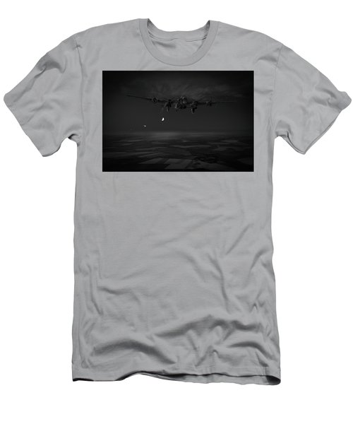 Men's T-Shirt (Athletic Fit) featuring the photograph Last Man Out Bw Version by Gary Eason