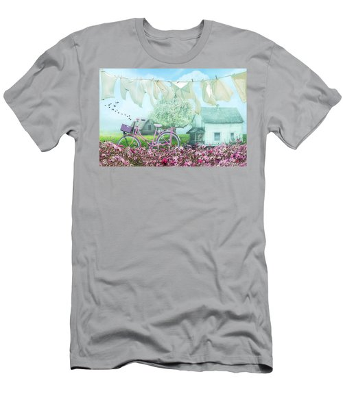 Laundry Day On A Misty Morn Men's T-Shirt (Athletic Fit)