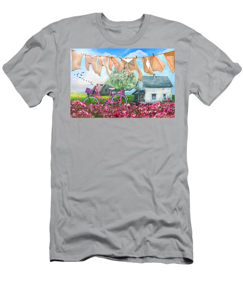 Laundry Day Watercolors Painting  Men's T-Shirt (Athletic Fit)