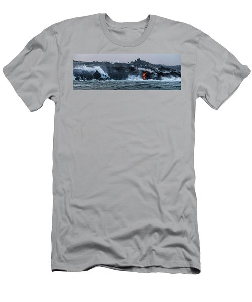 Lava Entering The Sea IIi Men's T-Shirt (Athletic Fit)