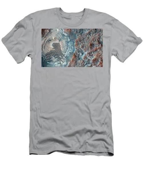 Layers And Dark Dunes On The Surface Of Mars Men's T-Shirt (Athletic Fit)