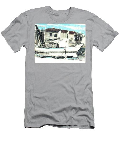 Le Barche Galleggianti Nel Mare Adriatico  Men's T-Shirt (Athletic Fit)