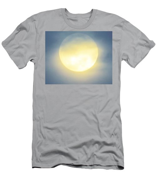 Men's T-Shirt (Athletic Fit) featuring the photograph Leo Blue Super Moon by Judy Kennedy