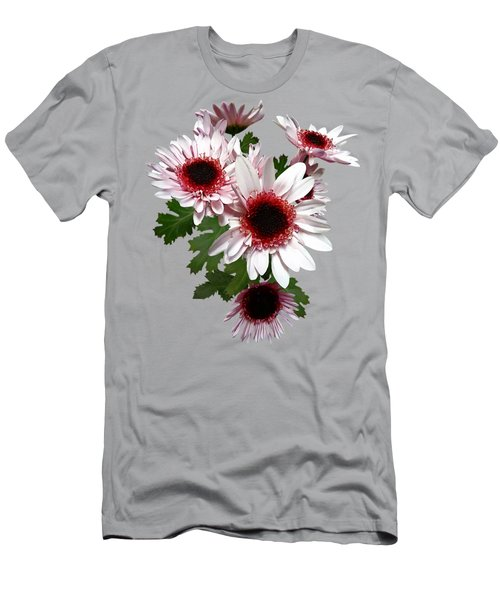 Light Pink Mums With Dark Pink Center Men's T-Shirt (Athletic Fit)