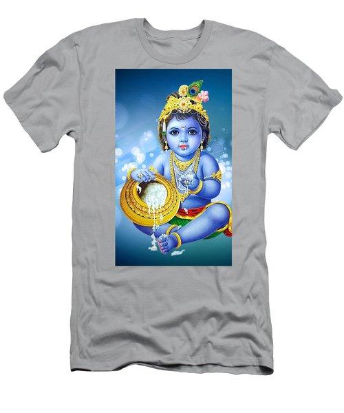 67b0dd03 Little Lord Shri Krishna Men's T-Shirt (Athletic Fit)