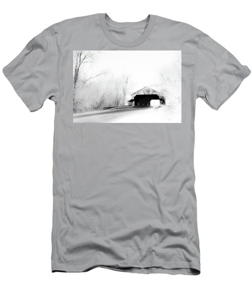Men's T-Shirt (Athletic Fit) featuring the photograph Lockport Covered Bridge by Michael Arend