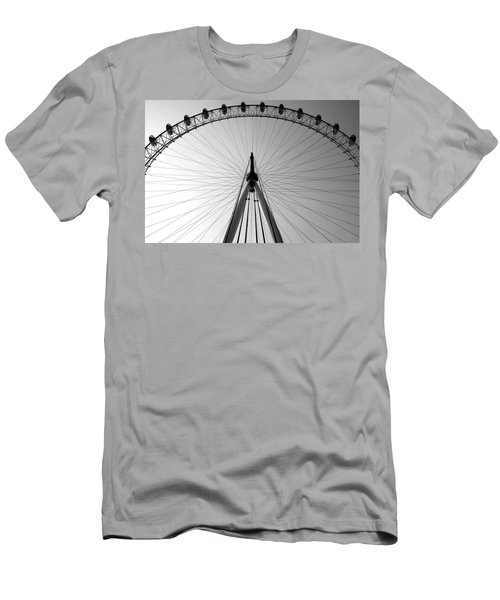 Men's T-Shirt (Athletic Fit) featuring the photograph London_eye_i by Mark Shoolery