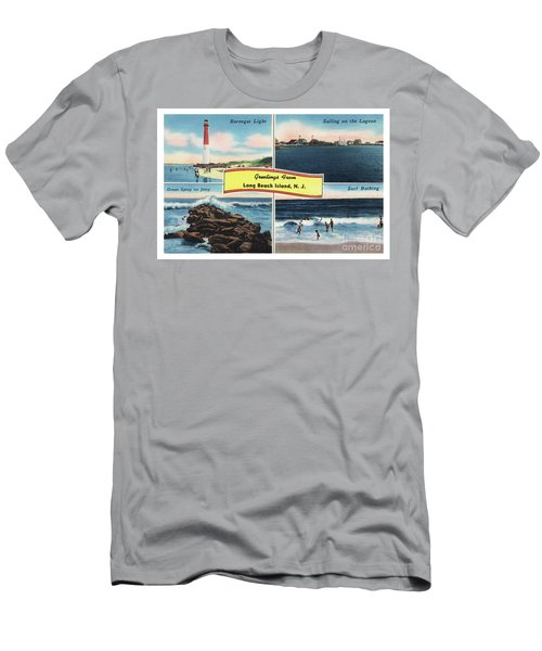 Men's T-Shirt (Athletic Fit) featuring the photograph Long Beach Island Greetings - Version 3 by Mark Miller