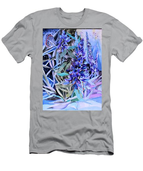 Lupine And Karner Butterfly Men's T-Shirt (Athletic Fit)