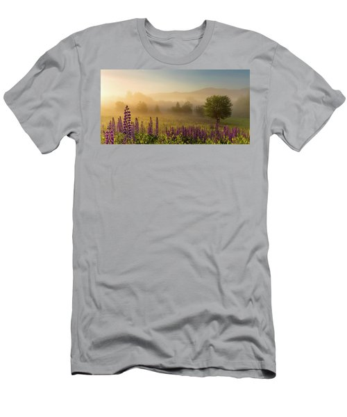 Lupine In The Fog, Sugar Hill, Nh Men's T-Shirt (Athletic Fit)
