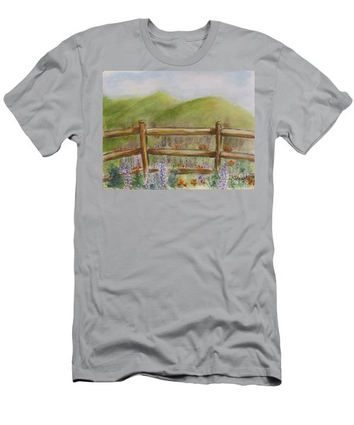 Lupines With A Side Of Poppies Men's T-Shirt (Athletic Fit)