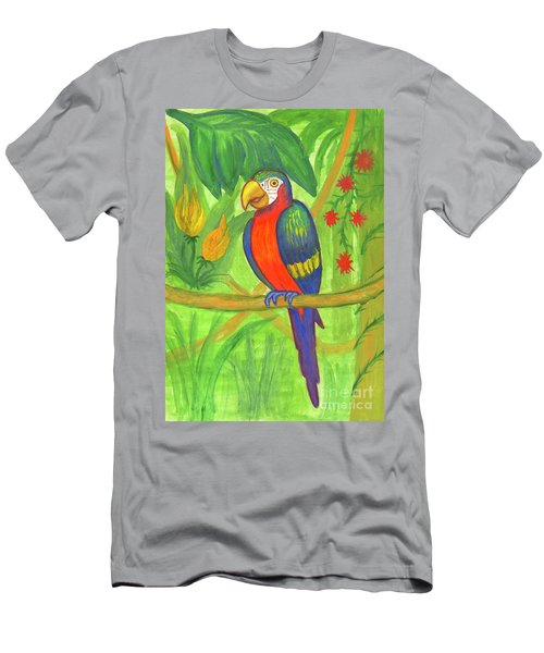 Macaw Parrot In The Wild Men's T-Shirt (Athletic Fit)