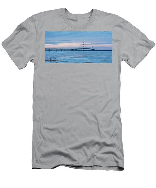 Mackinac Bridge In Ice 2161803 Men's T-Shirt (Athletic Fit)