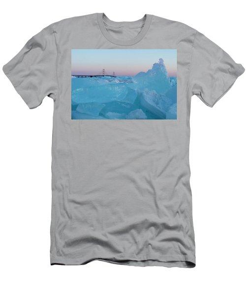 Mackinac Bridge In Ice 2161805 Men's T-Shirt (Athletic Fit)