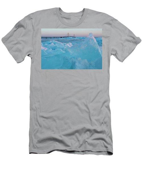 Mackinac Bridge In Ice 2161806 Men's T-Shirt (Athletic Fit)