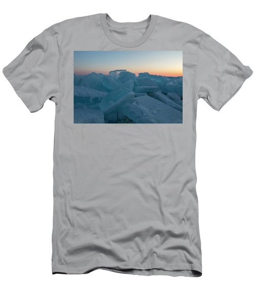 Mackinaw City Ice Formations 2161808 Men's T-Shirt (Athletic Fit)