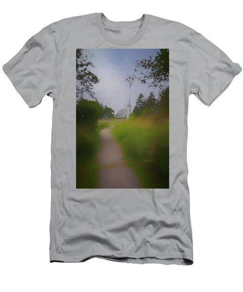 Men's T-Shirt (Athletic Fit) featuring the photograph Maine Island Chapel by Tom Singleton