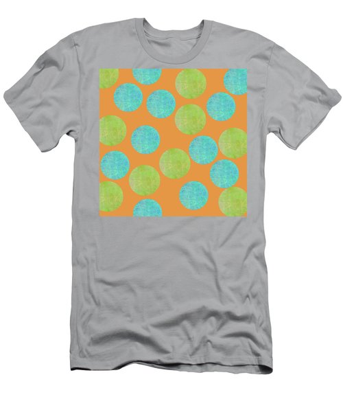 Malaysian Batik Polka Dot Print Men's T-Shirt (Athletic Fit)