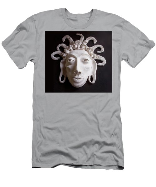 Men's T-Shirt (Athletic Fit) featuring the ceramic art Mask The Aztec by Joan Stratton