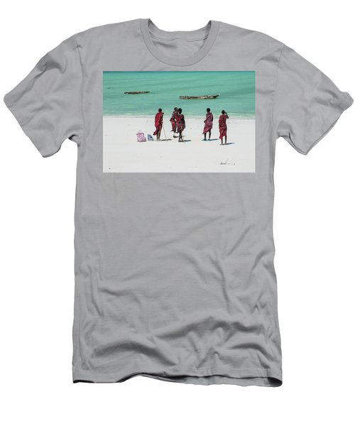 Massai At The Beach Men's T-Shirt (Athletic Fit)