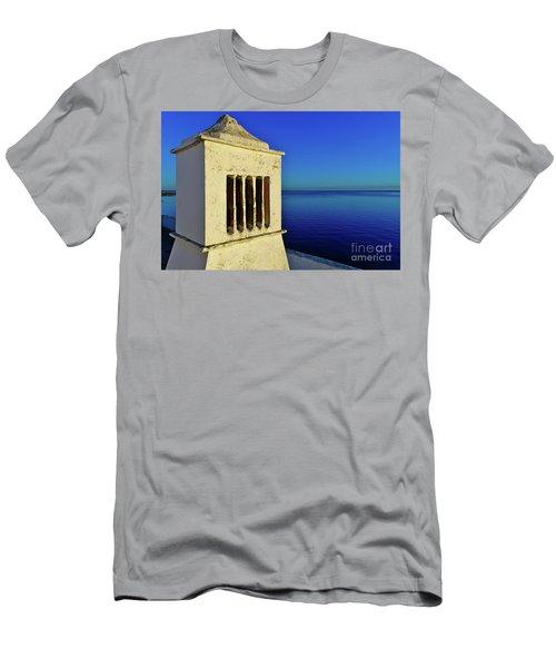 Mediterranean Chimney In Algarve Men's T-Shirt (Athletic Fit)
