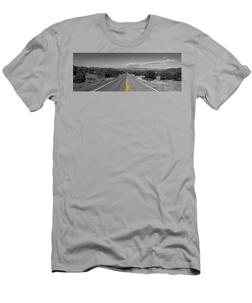 Middle Of The Road Men's T-Shirt (Athletic Fit)