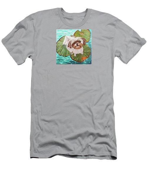Mischievous Shih Tzu Men's T-Shirt (Athletic Fit)