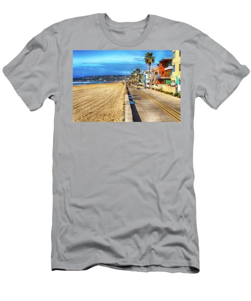 Mission Beach Boardwalk Men's T-Shirt (Athletic Fit)