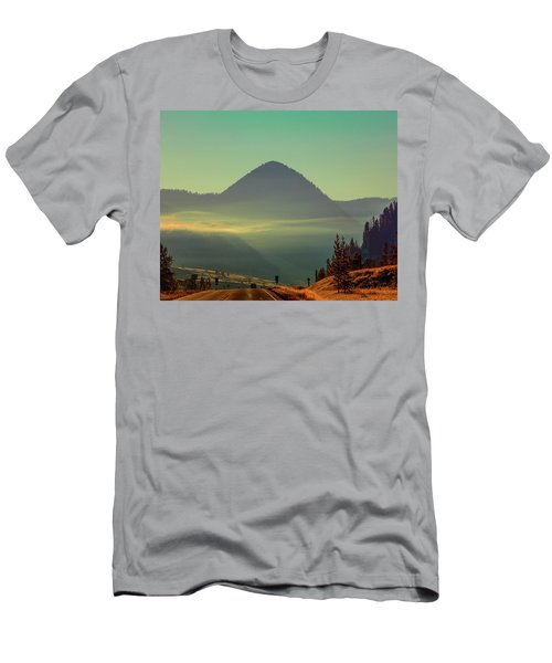 Men's T-Shirt (Athletic Fit) featuring the photograph Misty Mountain Morning by Pete Federico