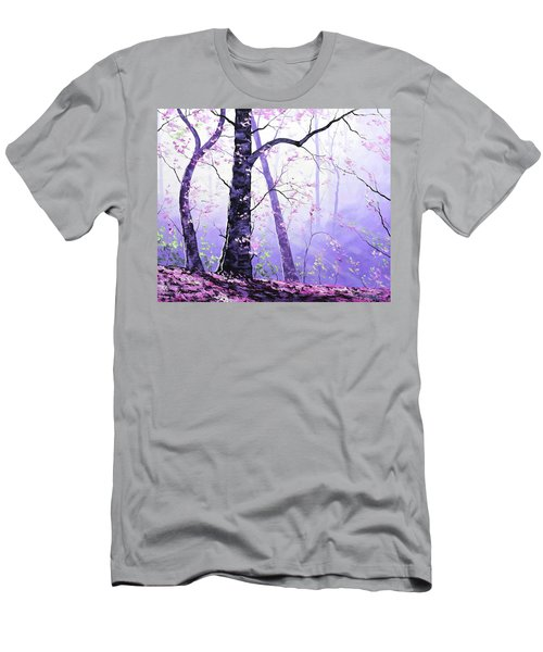 Misty Pink Trees Forest Men's T-Shirt (Athletic Fit)
