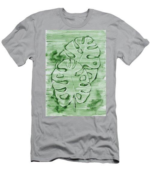 Monstera Leaves Men's T-Shirt (Athletic Fit)