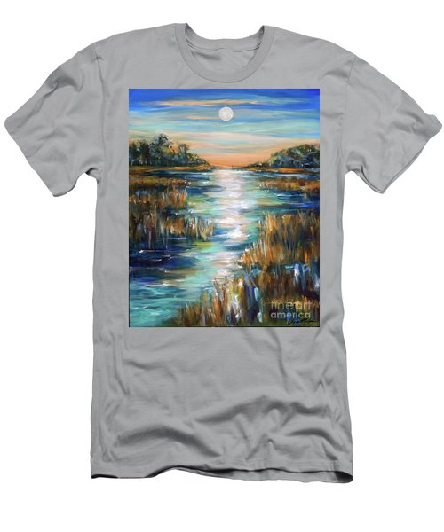 Moon Over Waterway Men's T-Shirt (Athletic Fit)