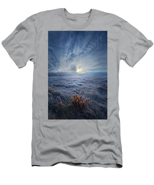 Men's T-Shirt (Athletic Fit) featuring the photograph Morning Time Blues by Phil Koch