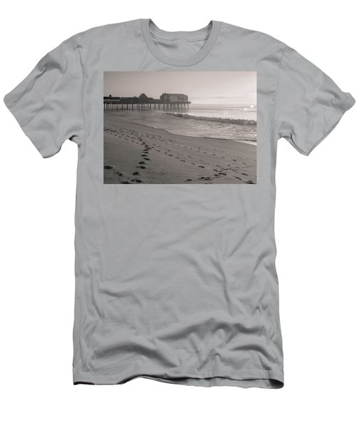 Men's T-Shirt (Athletic Fit) featuring the photograph Morning Walk On Old Orchard Beach by Dan Sproul