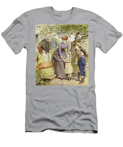 Mother And Children By A Beehive Men's T-Shirt (Athletic Fit)