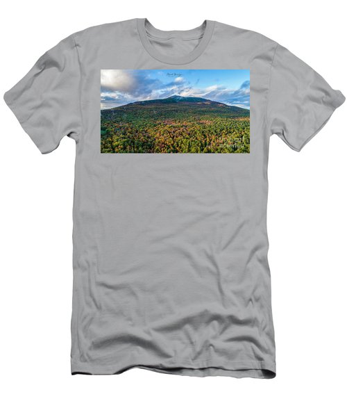 Men's T-Shirt (Athletic Fit) featuring the photograph Mountain That Stands Alone by Michael Hughes