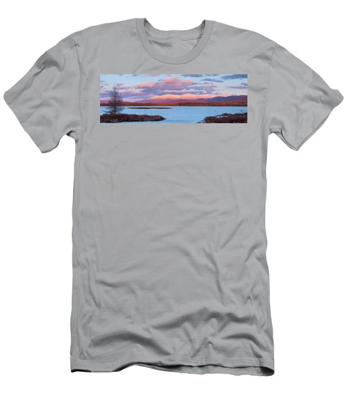 Mountain Views Over Cherry Pond Men's T-Shirt (Athletic Fit)