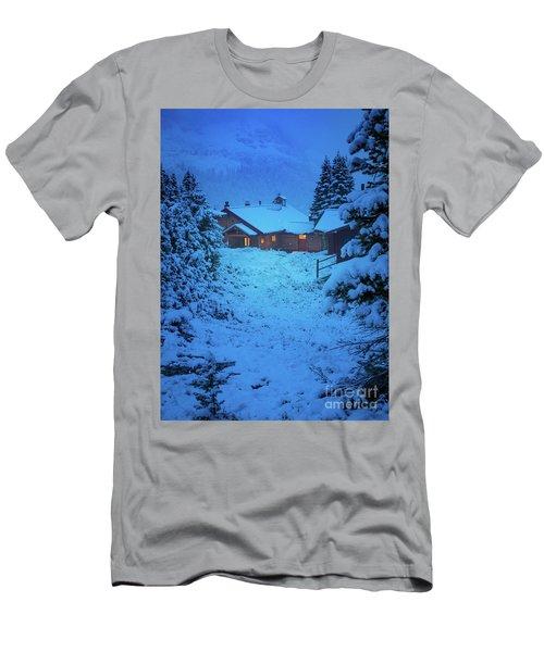 Mt Assiniboine Lodge At  Night Men's T-Shirt (Athletic Fit)