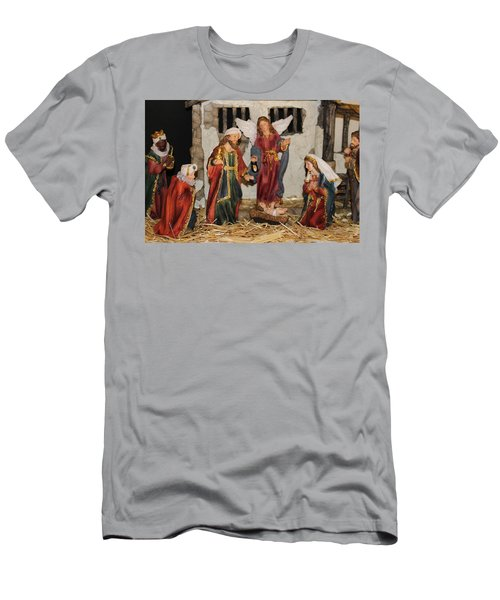 My German Traditions - Christmas Nativity Scene Men's T-Shirt (Athletic Fit)